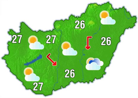 magyarország időjárás térkép A meteorológiai paraméterek | ENvironmental inFOrmation magyarország időjárás térkép